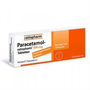 PARACETAMOL-ratiopharm 500 mg Tabletten